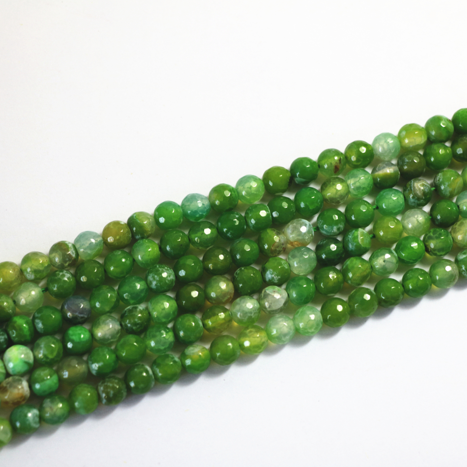 Newly make green dragon vein agate 6mm 8mm 10mm 12mm natural jade faceted round loose beads diy jewelry 15 inches A10