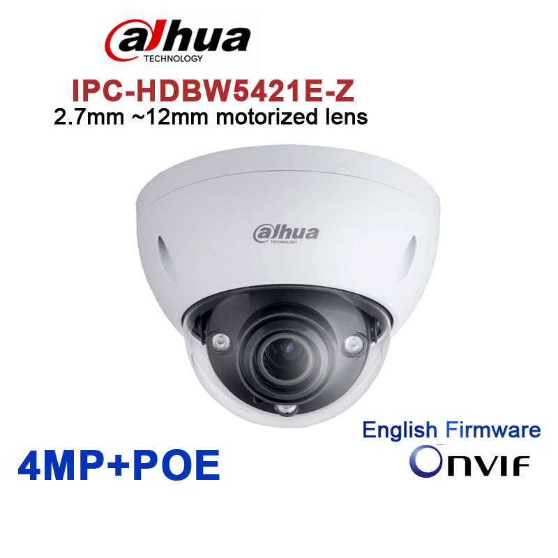 Orijinal Dahua DH-IPC-HDBW5421E-Z 4MP POE HD 2.7mm ~ 12mm motorlu lens 4MP Ağ Vandal-Proof IR Dome kamera IPC-HDBW5421E-Z