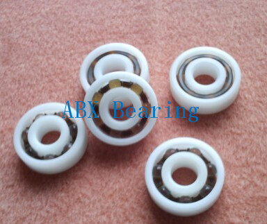 Free shipping 10pcs 634 POM plastic deep groove ball bearing 4x16x5mm with glass balls